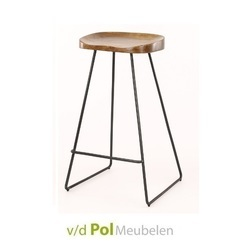 acaciahouten-barstoel-hout-metalen-onderstel-lage-barkruk-industrieel-stoer