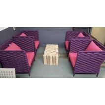Set 4x loungestoel Crochet Applebee ACTIE