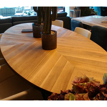 ovale eettafel hout hongaarse punt