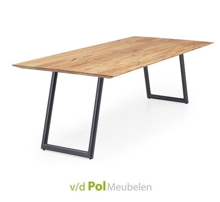 Tafel verjongd blad ronde U-poot 140 - 300 cm