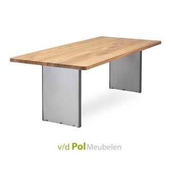 nouvion-eettafel-ronde-hoeken-stalen-onderstel-140-160-180-200-220-240-260-280-300