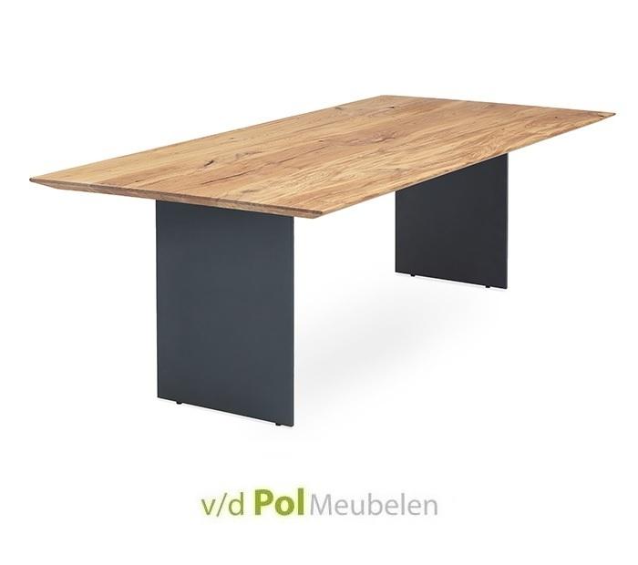 Tafel verjongd blad staalwang 140 - 300 cm