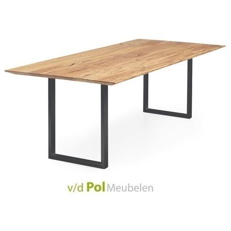 tafel-verjongd-blad-smalle-zwarte-u-poot
