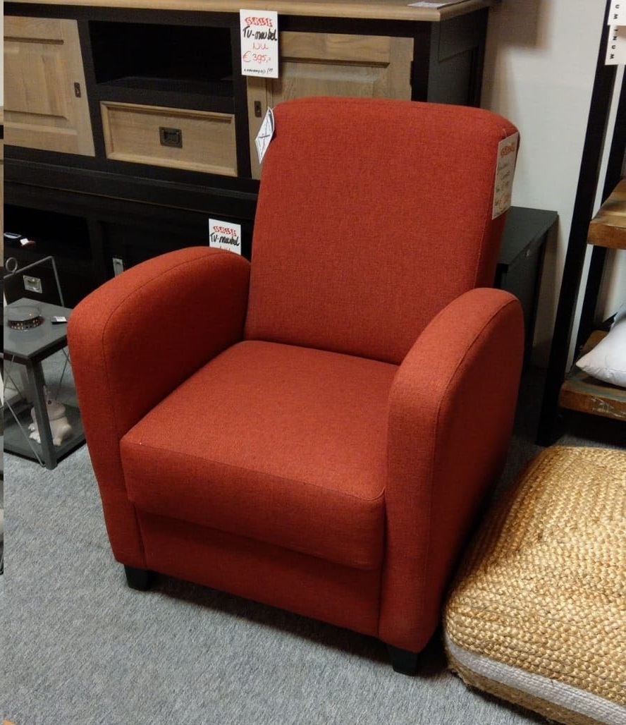 Showmodel fauteuil Rondo rood