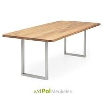Tafel recht blad ronde hoek smalle U 140 - 300 cm