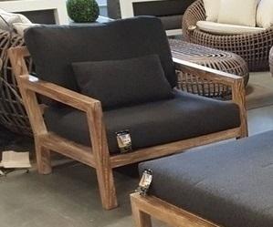 Set van 2 loungestoel Olive antraciet