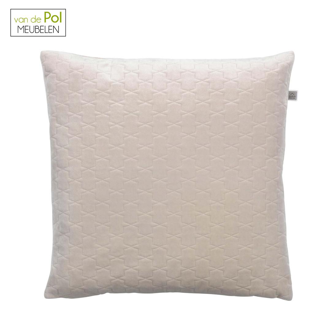 Textuur kussenhoes Belfor 45x45 cm zand