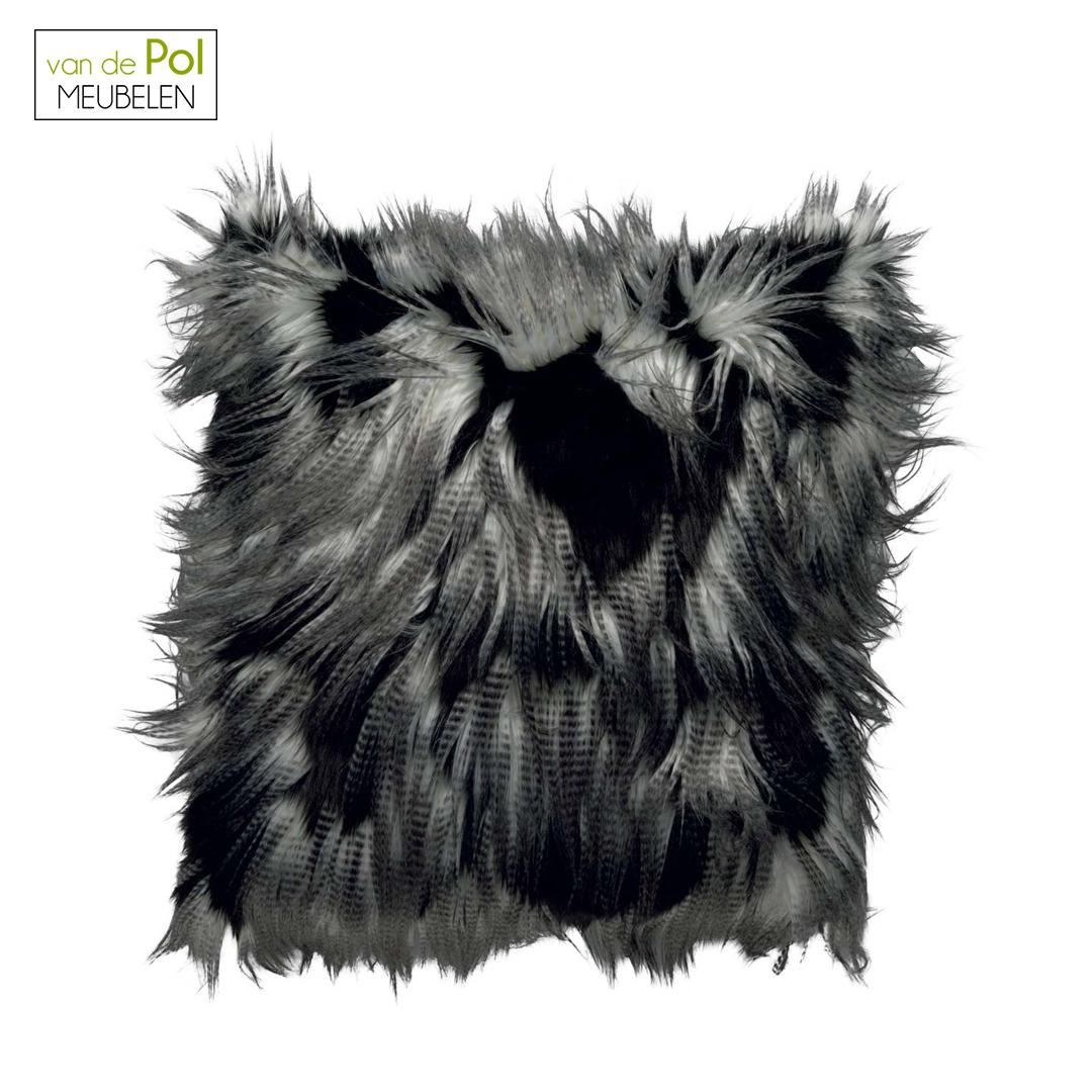 Kussenhoes Jimm 45x45 cm zwart/grijs