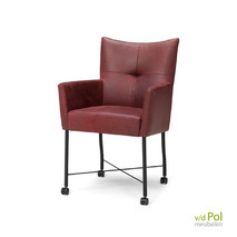 Haveco stoel Solo met armleuning en wieltjes
