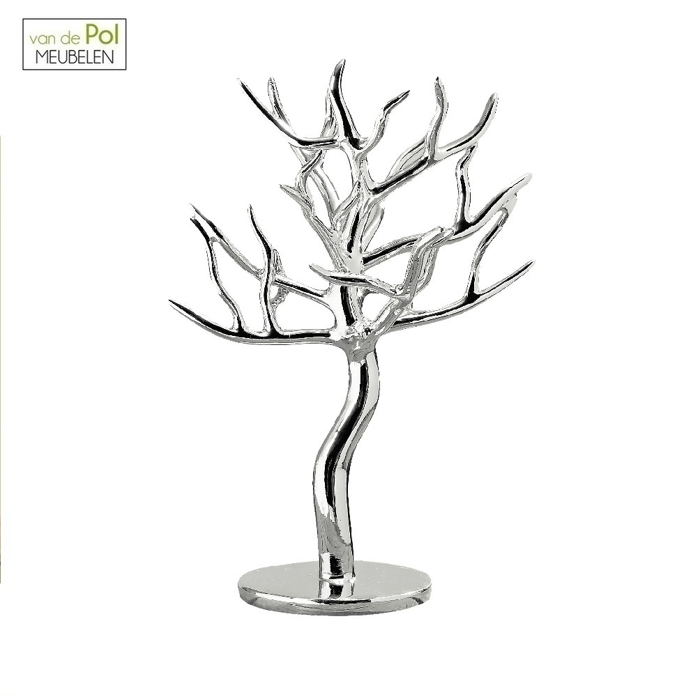 Zilveren deco sieradenboom