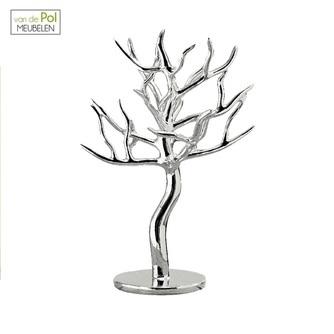 zilveren-decoratie-boom-juwelenrek-sieradenhanger-sieradenrek-deco-boom