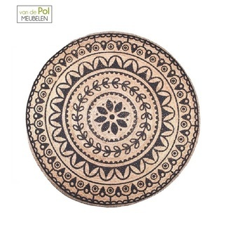 rond-carpet-jute-220-x-220-cm-byboo-jute-rond-vloerkleed-zwart-motief