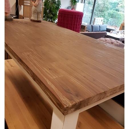 showmodel-tafel-acaciahout-200-cm-eettafel-hardhout-landelijk-wit-onderstel