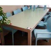 Showmodel 11 aluminium tafel met glasplaat