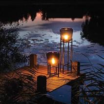 Tafellamp donker glas