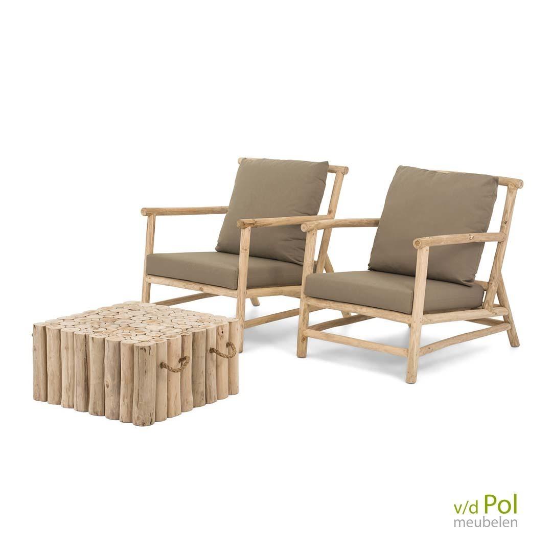 Rooty loungestoelen set 3-delig
