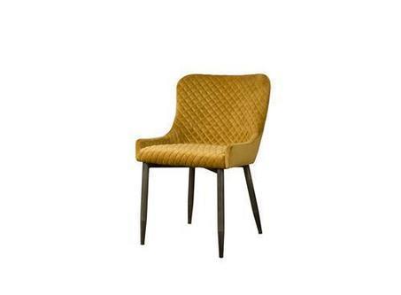 De Oledo velvet stoelen van Tower Living hebben een vintage bekleding met ruit stiksel - 1i 0061