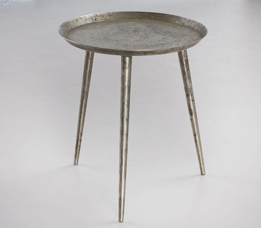 Bijzettafel ∅ 40 cm oud zilver