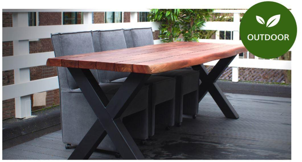 Boomstam tafel Santorini 200/240/270/300 cm