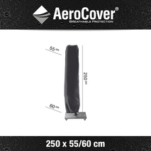 Aerocover parasolhoes zweefparasol 250×55/60cm