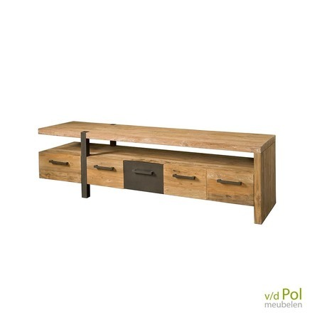 tv-meubel-teak-met-metaal-190cm