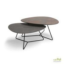 Set salontafels Twinny  brons - donkergrijs