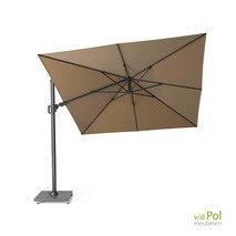 Zweef parasol Challenger T² 3x3 taupe