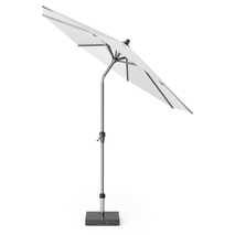Kantelbare parasol Ø 2,5 m wit rond