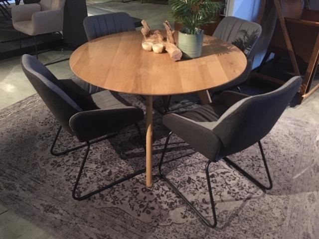 Tafel Roundy verjongd blad Ø 100/110/120 cm