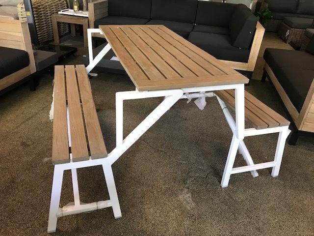 Inklapbare picknick bank-/tafel Applebee