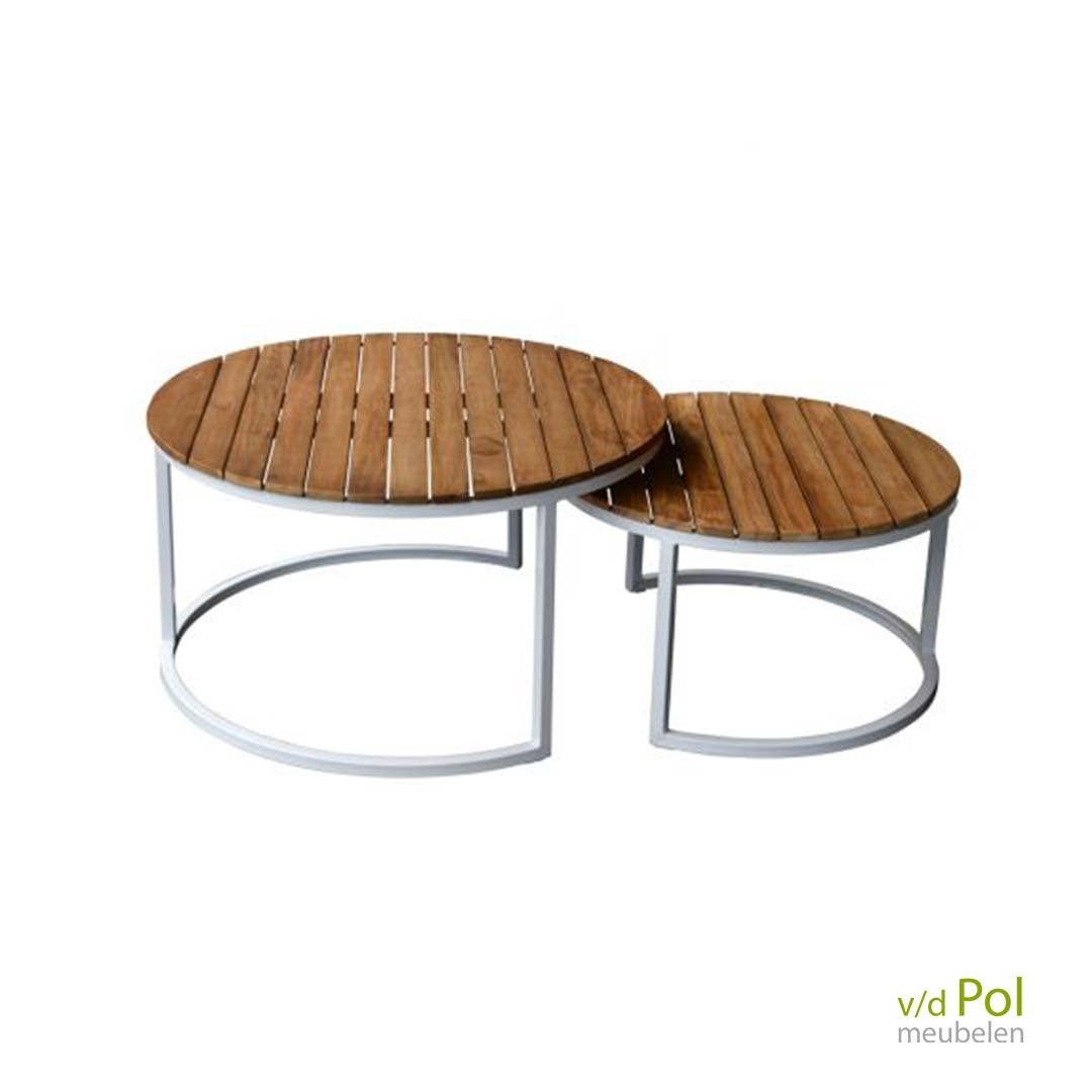 Set salontafels outdoor wit
