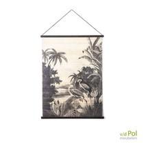 Bamboe wanddecoratie Miyagi groot