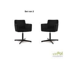 Set van 2 stoelen Kelvin zwart motown Eleonora