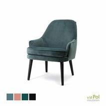 Eleonora Barbara fauteuil blauw velvet