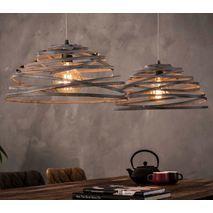 Hanglamp gedraaid staaldraad
