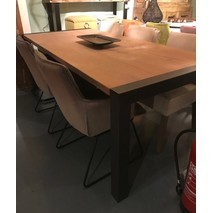 Eettafel oud eiken 217 x 100 cm