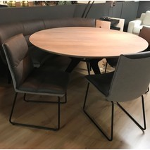 Showset ronde tafel 150 cm & 3 stoelen & bank