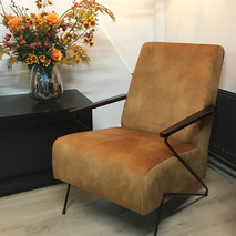 WW2101 Fauteuil met armleuning in stof of leer