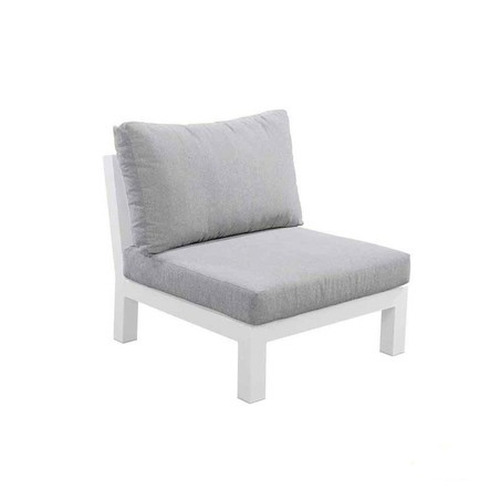 yoi midori tussenelement loungestoel zonder armleuning wit lichtgrijs