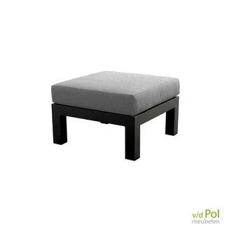 yoi-midori-voetenbankje-tuin-aluminium-donkergrijs