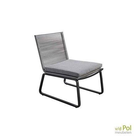 Loungestoel Kome zwart / grijs
