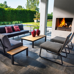 yoi-kome-loungestoel-tuin-zwart-grijs