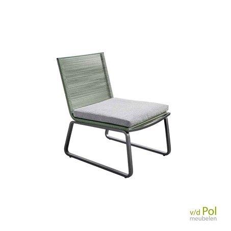 Loungestoel Kome grijs / groen