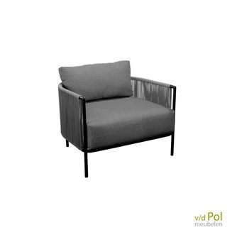 Lounge-stoel-buiten-Yoi-Umi dark grey / zwart