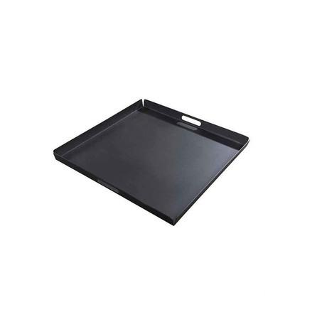 yoi hokan dienblad zwart 70 x 70 xm vierkant aluminium buiten