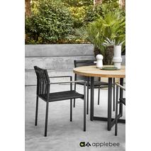 Tuinstoel Applebee Jakarta Black