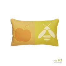 Tuin decoratie kussen Applebee 52x30 cm oranje