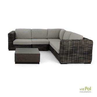 loungeset-hoek-elements-xl-blackwash-salontafel-concrete-applebee-weerbestendig-grijs-kussen