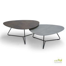 Set Bree's New World Twinny salontafel in brons - alugrijs