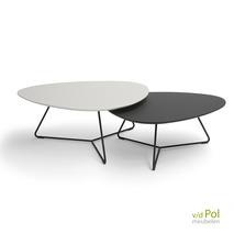 Set Twinny salontafels wit en zwart